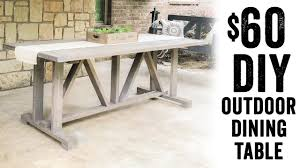 outdoor wood dining table. DIY $60 Outdoor Dining Table Wood
