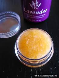 diy honey lavender lip scrub