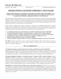 Operations Management Resume Logistics Operations Manager Resume Operations Logistics Project 15