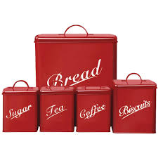 Purple Kitchen Canister Sets 5 Piece Canister Set Bread Bin Sugar Coffee Tea Biscuits Tin By