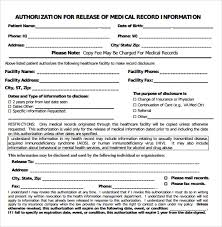 Sample Of Medical Records Sample Medical Record Request Forms 6 Download Free