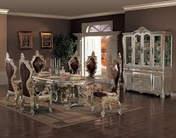 acme furniture agate ornate dining table and chair set del sol room sets dinette 0u3noykr cherry veneer home furniture