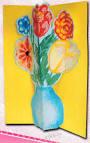 Детская открытка цветов