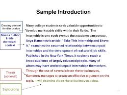 welcome to the writing placement assessment wpa workshop ppt sample introduction thesis optional signposting