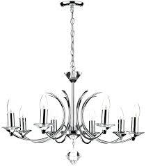 modern chrome chandelier crystal