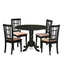 amazon east west furniture dlni5 blk c 5 piece dining table and 4 chairs set for 4 people kitchen dining