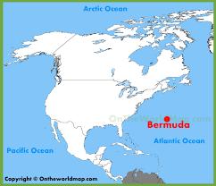 bermuda location on the north america map