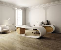 office desk design ideas. Fine Office Oval Shape White And Brown Accent Unique Office Desk Designs For Computer  Table In Modern Home Furniture On Design Ideas E