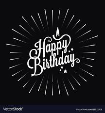 Happy Birthday Logo Star Burst Design Background
