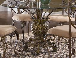 dining room amazing metal round glass top table with creamy beige chairs comoleted fancy patterned carpet