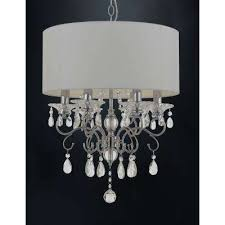 contemporary 6 light chrome silver mist chandelier with shade