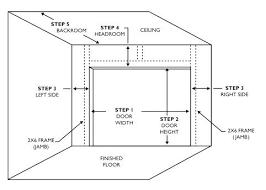 Garage Door Measurements Cozydecorating Co