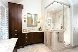 free standing wall panels shower half glass wall how to build a half wall shower bathroom traditional with custom mirrors freestanding bath stone coloured