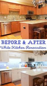 Renovation For Kitchens Before And After White Kitchen Renovation Plain Chicken