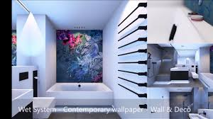 cool bathroom wallpaper designs gallery of magic relaxing with wall decò wet