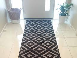 Interior: Chic Rug Runners For Hallways With White Front Door And ...