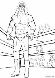Coloring Pages Wwe Printable Coloring Pages Wrestling Hulk Hogan