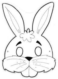 New Rabbit Mask Coloring Pages Spurlme