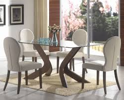 san vicente walnut wood and glass dining table set