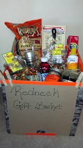 redneck gift basket beef y natural light moonshine liquor duck tape sharpie marker red solo cup vienna sausages