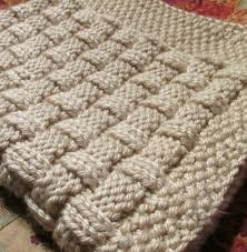 Basket Weave Knitting Pattern Baby Blanket