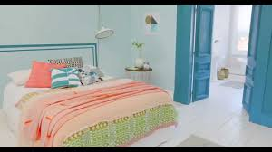 Teal Colour Bedroom Bedroom Ideas A Coral And Teal Colour Scheme With Dulux Youtube