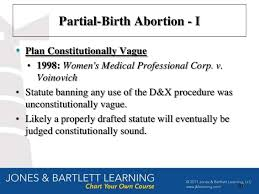 Partial Birth Abortion Plan 5530 Chapter 17