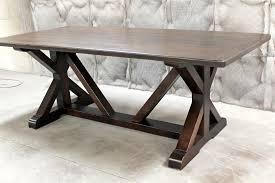 dining table leaf hardware: restoration hardware inspired x base trestle table
