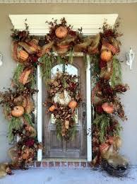front door decor30 Cozy Thanksgiving Front Door Dcor Ideas  DigsDigs