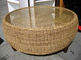 wonderful round wicker coffee table glass top with coffee table cozy round wicker coffee table design