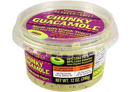 reduced guilt chunky guacamole with greek yogurt