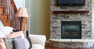 mountain fireplace facing