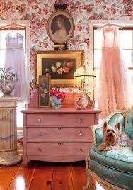 ... retro pin up girly room floral wallpaper pink dresser 50s style inteior  decor design better decorating ...