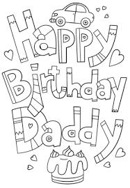 Disegno Di Disegno Buon Compleanno Papà Da Colorare Disegni Da
