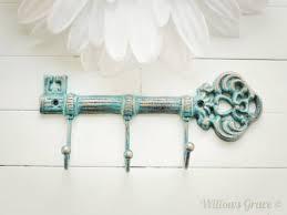 Decorative cast iron key hook. Wall hook, fixture, key rack, purse hook
