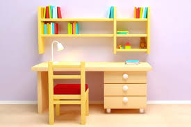 kids desk with drawers children writing desk white bookcase