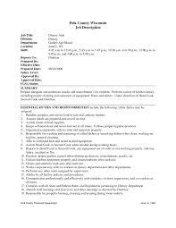 Housekeeper Jobiption Template Hospital Housekeeping For Resume
