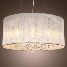 top trendy diy drum shade chandelier with crystals canada extra lighting