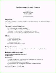 Objective Accounting Resumes Tax Accountant Resume Objective Examples Beautiful Tax