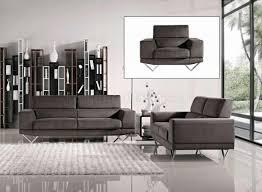 Metal Living Room Furniture Grey Fabric Modern 3pc Sofa Loveseat Chair Set W Metal Legs