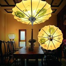chinese chandelier lighting new painting painted chandelier lamp umbrella classical art lanterns lighting living room dining