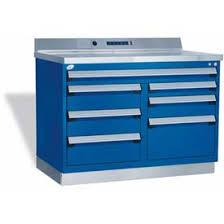 metal workbench with drawers. rousseau metal workbench w/multi-drawer tool box gt-xhg0002s_041, 1 with drawers r