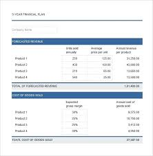 Business Plan Excel Template Free Download Financial Plan Template Free 5 Year Financial Plan Excel Template