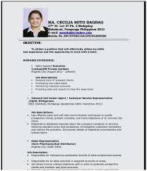 Sample Resume Call Center Agent No Work Experience Terrific Fresh