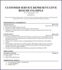 Customer Service Representative Resume No Experience