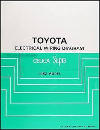 1982 toyota celica supra wiring diagram manual original