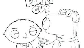 Family Guy Christmas Coloring Pages Family Guy Coloring Page Family