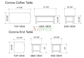 coffee table sizes amazing top standard size to sofa for inside 5