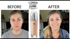 l oréal true match lumi healthy luminous makeup reviews vlogger
