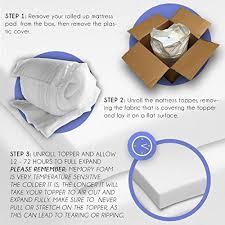 memory foam mattress topper packaging.  Memory Amazoncom Advanced Sleep Solutions Memory Foam Mattress Topper 2 Intended Packaging